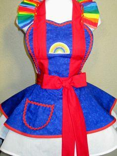 Rainbow Brite Costume Apron by sjcnace4 on Etsy, $55.00