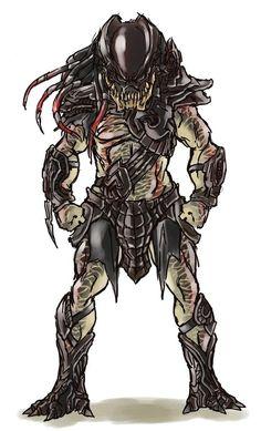 Predator Movie, Apex Predator, Alien Vs Predator, Predator Costume, Famous Warriors, Aliens Movie, Alien Races, Alien Art, Military Gear
