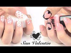 Diseños de uñas para San Valentín. S