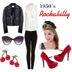 1950s Rockabilly, created by mollyjane16 on Polyvore I would Rick this :)