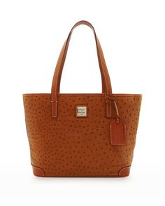 Maple and West Dooney & Bourke Ostrich-Embossed Charleston Shopper - Tan