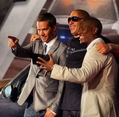 Paul Walker, Vin Diesel, and Tyrese Gibson. Amazing actors with great and caring hearts Movie Fast And Furious, Furious Movie, The Furious, Cody Walker, Rip Paul Walker, Paul Walker Tribute, Paul Walker Movies, Dominic Toretto, Fast Five
