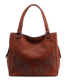 55f6801524e1  29.79 Love this Brown Stud Shoulder Bag on  zulily!  zulilyfinds Best  Handbags
