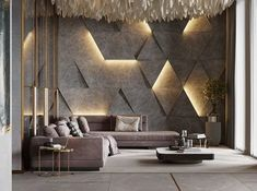 21 inspiring modern living room decor for your house 33 Feature Wall Design, Wall Panel Design, House Wall Design, Kitchen Wall Design, Wall Texture Design, Office Wall Design, Interior Design Living Room, Living Room Designs, Living Room Decor
