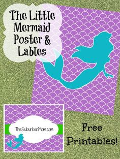 Little Mermaid Poster Labels Free Printables