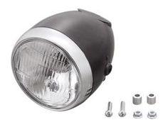 Highway Hawk 5-3/4 Side Mount Vintage Black E-Mark Headlight