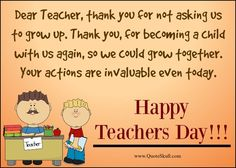Teachers day messages from kids 1000 teachers day quotes images teachers day cards m4hsunfo
