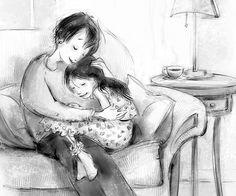 Patrice Barton » Illustrator - mother - daughter - love - huge - sofa - love - familly