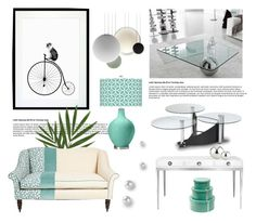 """""""Aqua and Steel"""" by pattykake ❤ liked on Polyvore featuring interior, interiors, interior design, home, home decor, interior decorating, Cattelan Italia, Chintaly Imports, Jonathan Adler and Vibia"""