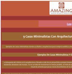 Amazing Senior Resorts- 9 Casas Minimalistas Con Arquitectura Y Diseño De Locos: