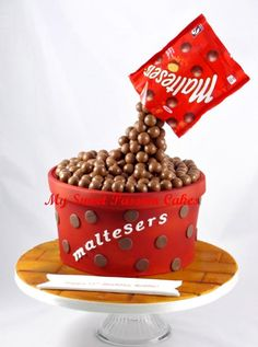 Chocolate malteser cake - Cake by Beata Khoo - CakesDecor Chocolate Malteser Cake, Malteaser Cake, Malteser Cupcakes, Chocolates, Chocolate Explosion Cake, 13 Birthday Cake, Birthday Ideas, Fig Cake, Gravity Cake
