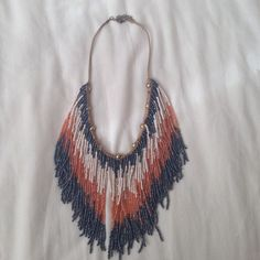 "Spotted while shopping on Poshmark: ""Free people fringe beaded collar necklace""! #poshmark #fashion #shopping #style #Free People #Jewelry"