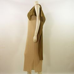 #Vintage #Issey #Miyake Champagne Micro Pleated Evening Dress 1992. £345.00