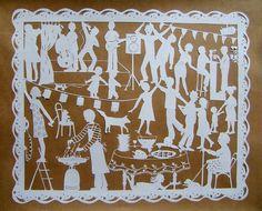 """PAPIERS DECOUPES - La cabane de Baba… - Contes et… - L'italie...la série… - La dolce vita... - Le dimanche matin... - Et vous... - """"Le pique-nique"""" - Le… - La grande fête,… - La grande fête ! - Papiers découpés de Stéphanie Miguet"""