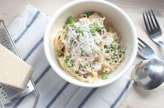 Pasta carbonara for kongen Pasta Carbonara, Enchiladas, Hummus, Risotto, Food And Drink, Eat, Healthy, Ethnic Recipes, Foods