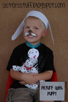 Great idea for kids event, collar, ears and face paint Great for the Fancy Nancy Posh Puppy and Puppy Party books!