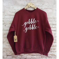 Gobble Gobble Sweatshirt Gobble Gobble Shirt Thanksgiving Sweatshirt... ($19) ❤ liked on Polyvore featuring tops, hoodies, sweatshirts, grey, women's clothing, grey shirt, holiday shirts, christmas sweatshirt, shirts & tops and evening tops