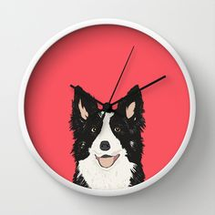 Montana - Border Collie gifts for dog people and dog lovers perfect gifts for a dog person.  Wall Clock by PetFriendly - $30.00