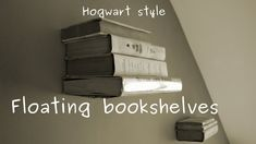 How to make levitating (invisible) bookshelf (on the wall) - easy DIY project Diy Projects With Books, Easy Diy Projects, Floating Bookshelves, Floating Shelves Diy, Skateboard Shelves, Invisible Bookshelf, Cardboard Furniture, Cardboard Boxes, Harry Potter Room