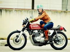 Cling on for dear life !!!: This Week's Cling On Girl... Missin' my CB750F