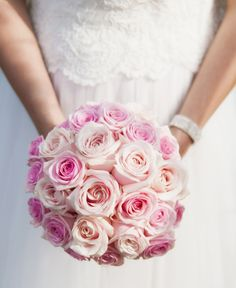 Classic Bridal Bouquet With Light Pink Roses