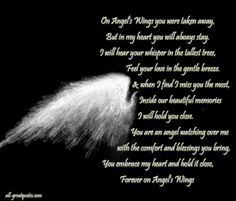 Your my Angel now and always until I see you again Mom, I miss you so very much and love you as wide as the universe. xox