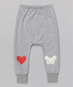 Look at this #zulilyfind! Gray Heart Harem Pants - Infant, Toddler & Girls by Leighton Alexander #zulilyfinds