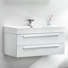 *KINO Pure White Wall Hung Vanity 100 cm by Prodigg Signature