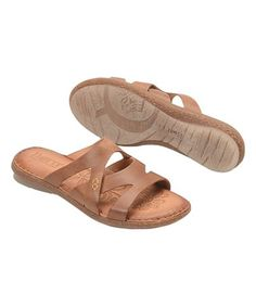 This Rust Tepati Leather Sandal is perfect! #zulilyfinds