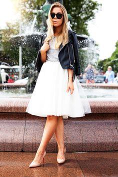 Leather Jacket & Tulle Skirt : Alexa Dagmar