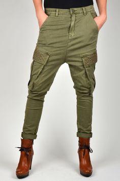 Stoere CIRCLE OF TRUST MORGEN STUDS broek. #pants #army #studs #circleoftrust #fashion