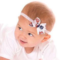 Baby Auburn Lace Headband....I need to make this