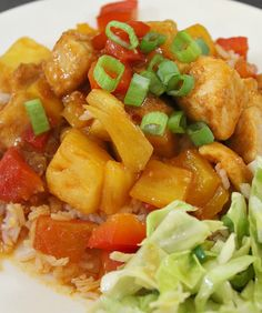This healthy sweet and sour chicken uses fresh pineapple and bell peppers, easy Chinese ready in 30 minutes. The chicken is tender and juicy in this dish.
