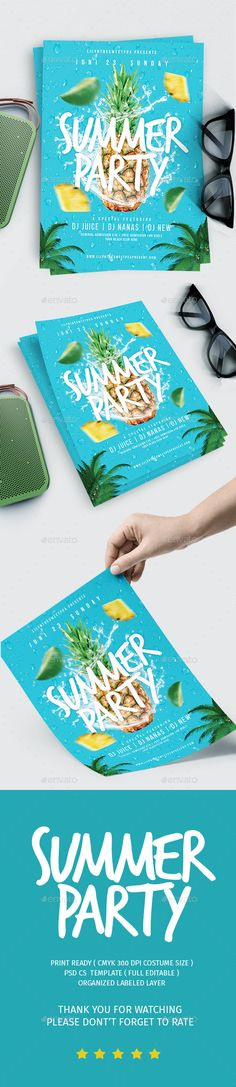 Summer party Vol.6 — Photoshop PSD #cocktail party #shaker • Download ➝ https://graphicriver.net/item/summer-party-vol6/19847921?ref=pxcr