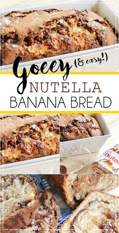 A makeup and beauty blog about new products and bargain buys Banana And Nutella Cake, Nutella Bread, Nutella Breakfast, Banana Bread Muffins, Easy Banana Bread, Easy Bread Recipes, Banana Bread Recipes, Cake Recipes, Coffee Dessert