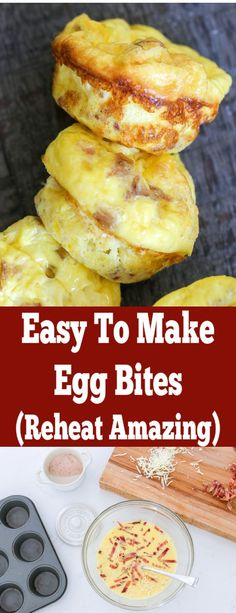 Easy Bacon Egg Bites (Starbucks Copycat) - Momsdish So incredibly easy to prepare, they reheat incredible and always our go to for meal panning. If you like Starbucks egg bites, you will love this recipe! Breakfast Bites, Low Carb Breakfast, Sausage Breakfast, Breakfast Casserole, Brunch Recipes, Breakfast Recipes, Starbucks Egg Bites, Starbucks Breakfast, Low Carb Recipes