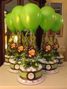 """ Emily's Party Designs "": Baby Shower Centerpieces/ Centros de Mesa Baby Shower"