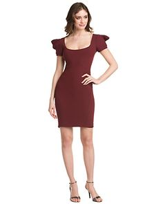 Some of you have to get in on this: ZAC Zac Posen Burgundy Ruffle Sleeve Dress