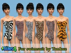 Fur swimsuit by Tankuz at Sims 3 Game via Sims 4 Updates  Check more at http://sims4updates.net/clothing/fur-swimsuit-by-tankuz-at-sims-3-game/
