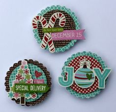 Holiday Magnets Set by Sheri Feypel via Jillibean Soup  Blog
