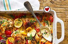 Kip met paprika en citroen uit de oven
