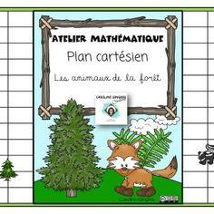 Ateliers-Mathématiques-Plan cartésien-Animaux de la forêt- Caroline Gingras Créations Maths, Centre, Creations, Writing, How To Plan, Christmas Ornaments, Reading, Holiday Decor, Products