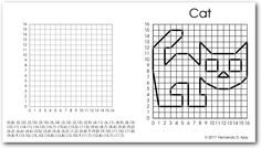 Graphing Worksheets for children. Grade, Grade, Grade, Grade, and Grade. How to teach the coordinate plane? Graphing Worksheets, Graphing Activities, Kindergarten Worksheets, Printable Worksheets, Art Activities, Plane Drawing, Free Math Games, Graph Paper Drawings, Line Graphs