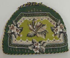 ELEGANT VINTAGE BERLINWORK NEEDLEPOINT TEA  COSY RR344 in Antiques, Linens & Textiles (Pre-1930), Tapestries | eBay