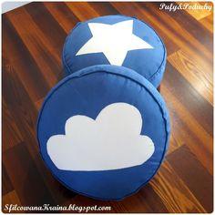 Navy Blue Floor pillows with Star and Cloud Poufs&Pillow www.sfilcowanakraina.blogspot.com Pillow Inspiration, Blue Floor, Poufs, Floor Pillows, Cloud, Navy Blue, Flooring, Stars, Home Decor
