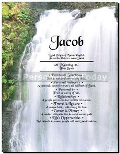 Waterfall River Foliage Mountain Hike Refreshing Breeze Nature Outdoors First Name Art Wall Decor Print Uniquely Custom Personalized With Any First Name