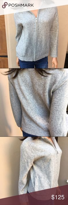 J Crew Zip-Up Bomber Sweater Classically cool! Reminiscent of the bomber style jacket. Lambswool. Gray. Zip front. Pockets. Like new! 👗The Chic Shed; A Current and Classic Fashion Curation.👗 🎀10% OFF 2/15% OFF 3+ ITEM BUNDLE🎀 😊PLEASE USE OFFER BUTTON ❌NO PP, TRADES, HOLDS❌  🛍ITEMS ALWAYS 100% AUTHENTIC🛍 👑SUGGESTED USER👑 J. Crew Sweaters