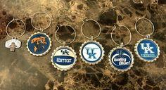 Kentucky wildcats big blue  inspired wine glass by CharmMeLeigh
