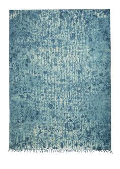indigo shibori wool shawl