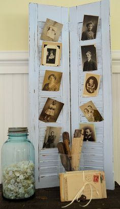 Pair of Shutters to Display Photos